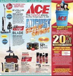 Ace Hardware catalog ( Published today)