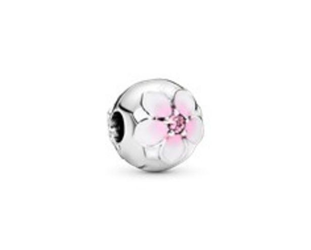 Round Pink Magnolia Flower Charm - FINAL SALE deals at $60