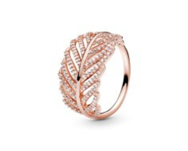 Shimmering Feather Ring - FINAL SALE deals at $110
