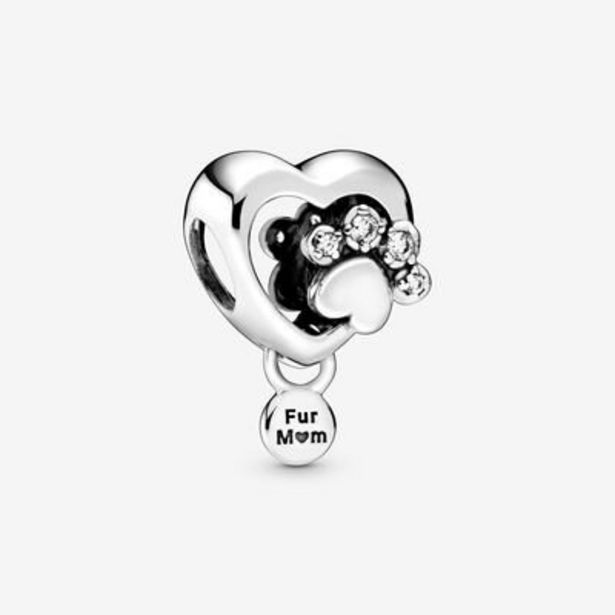 Sparkling Paw Print & Heart Charm offer at $45