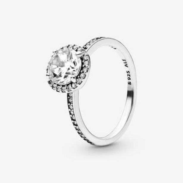 Round Sparkle Halo Ring offer at $58.5
