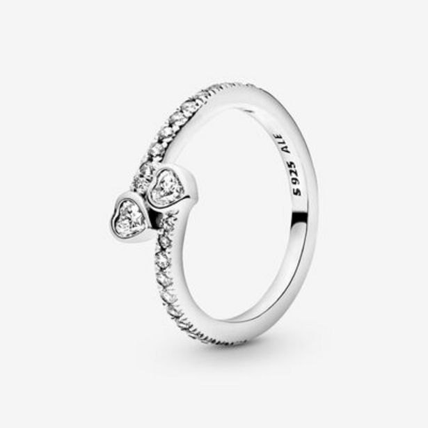Two Sparkling Hearts Ring offer at $80