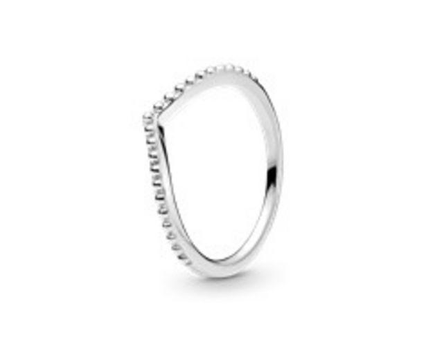 Beaded Wishbone Ring deals at $35