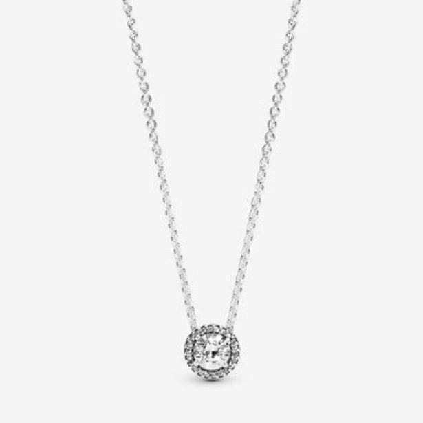 Round Sparkle Halo Necklace offer at $90
