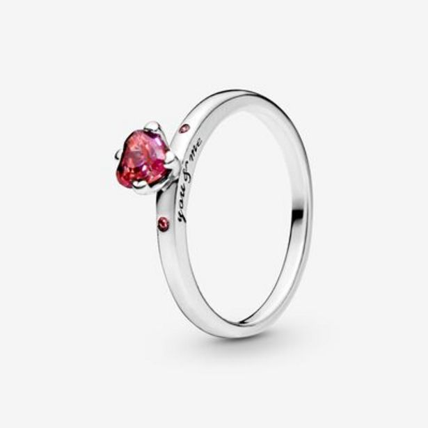 Sparkling Red Heart Ring offer at $50