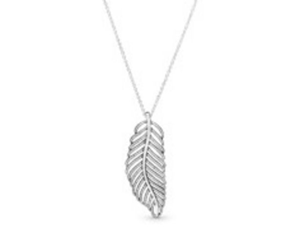Shimmering Feather Pendant Necklace - FINAL SALE deals at $140
