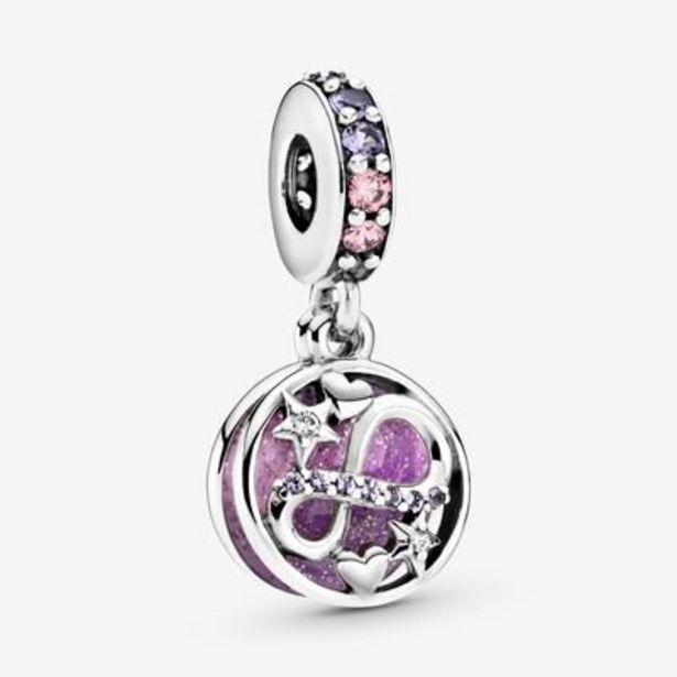 Glittering Infinity Hearts & Stars Dangle Charm offer at $42.25