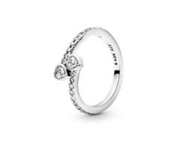 Two Sparkling Hearts Ring deals at $80