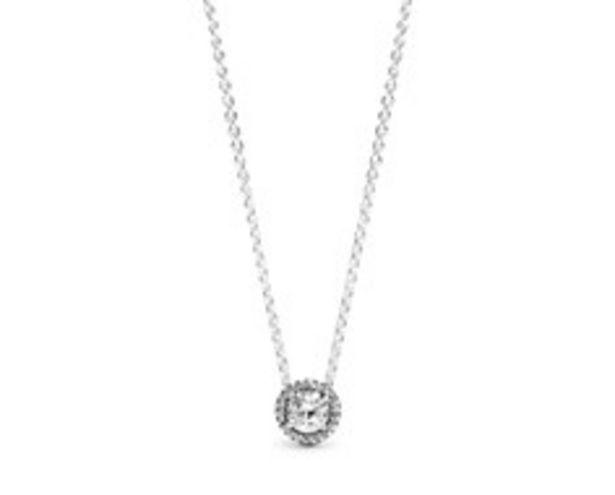 Round Sparkle Halo Necklace deals at $90