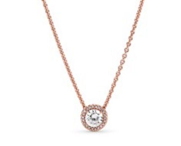 Round Sparkle Halo Necklace deals at $125