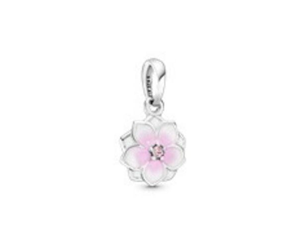 Pink Magnolia Flower Dangle Charm - FINAL SALE deals at $55