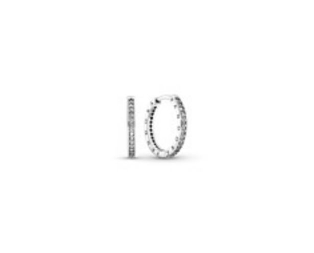 Sparkle and Pandora Logo Hoop Earrings deals at $90