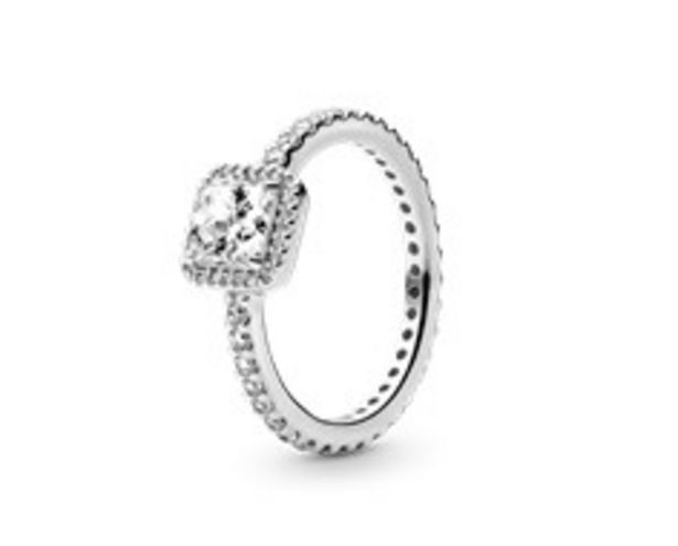 Square Sparkle Halo Ring deals at $75