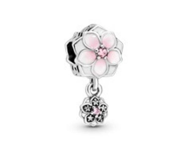 Dangling Pink Magnolia Flower Charm - FINAL SALE deals at $60