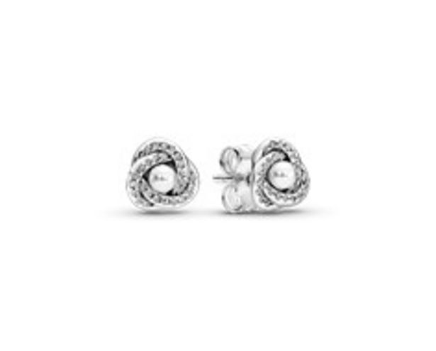 Shimmering Knot White Lacquered Artificial Pearl Stud Earrings - FINAL SALE deals at $65