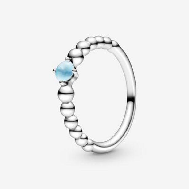 Sky Blue Beaded Ring offer at $50