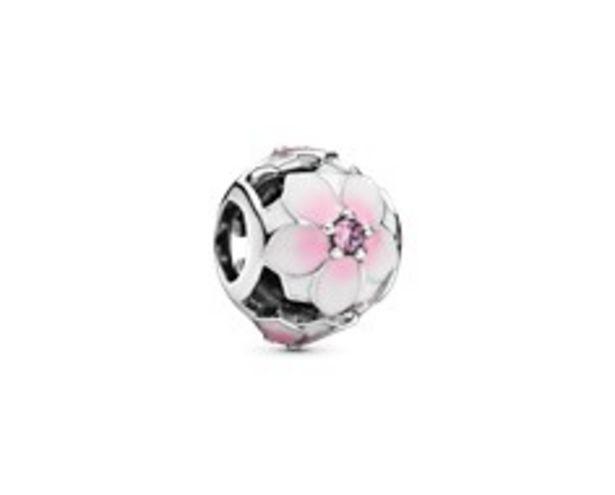 Openwork Pink Magnolia Flower Charm - FINAL SALE deals at $55
