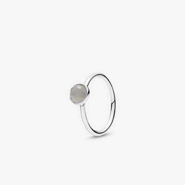 June Droplet Ring, Grey Moonstone - FINAL SALE offer at $34.99