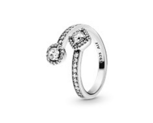 Sparkling Square & Circle Open Ring - FINAL SALE offer at $95