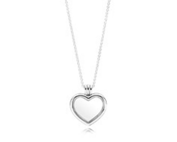 PANDORA Floating Heart Locket, Sapphire Crystal Glass & Clear CZ - FINAL SALE offer at $125
