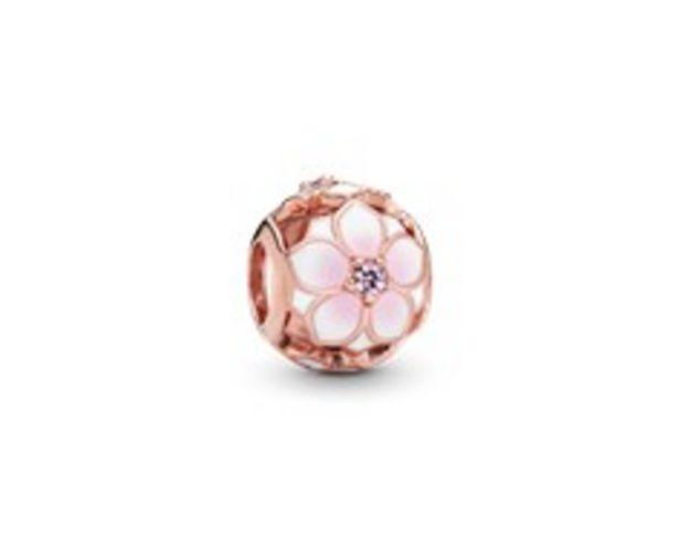 Openwork Pink Magnolia Flower Charm deals at $65