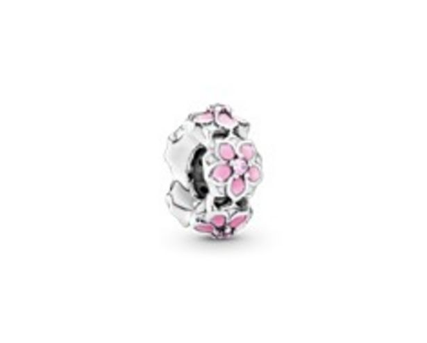 Pink Magnolia Flower Spacer Charm - FINAL SALE deals at $40