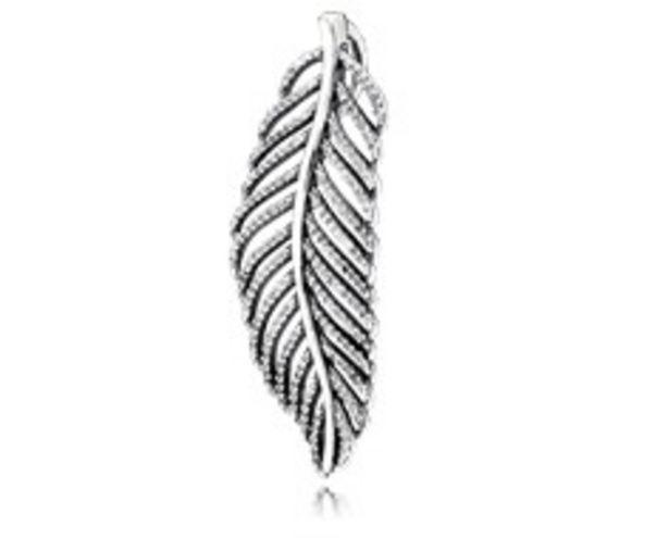Light As A Feather Pendant, Clear CZ - FINAL SALE deals at $125
