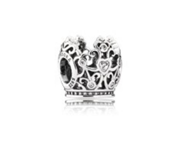Disney, Princess Crown Charm, Clear CZ - FINAL SALE deals at $70