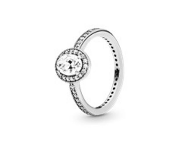 Oval Sparkle Halo Ring - FINAL SALE deals at $80