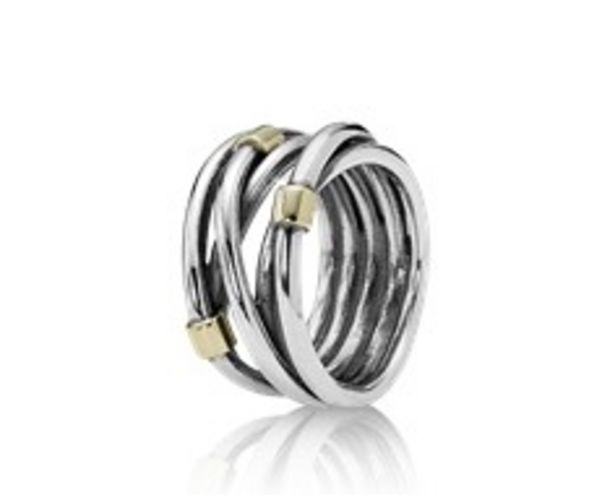 Silver Rope Bands Ring - FINAL SALE deals at $95
