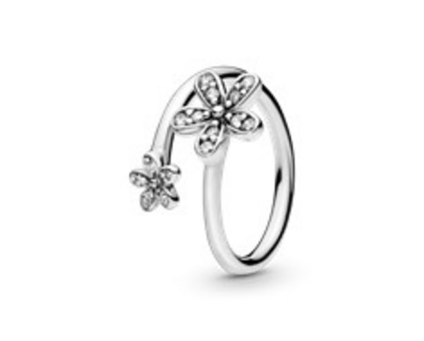 Sparkling Daisy Flower Open Ring - FINAL SALE deals at $60