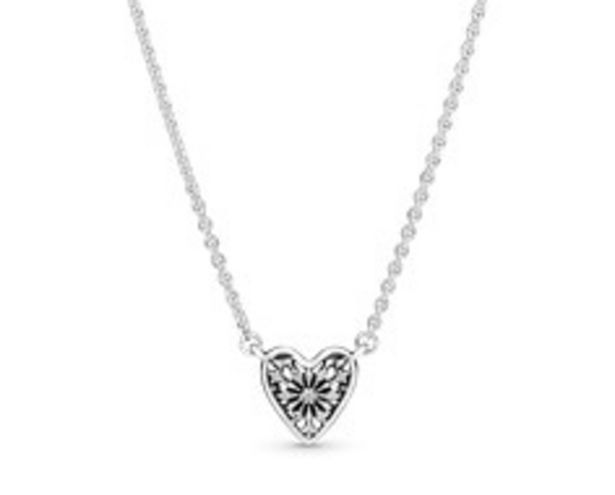 Ice Crystal Heart Collier Necklace - FINAL SALE deals at $80