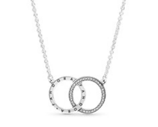 Entwined Circles Pandora Logo & Sparkle Collier Necklace - FINAL SALE offer at $90