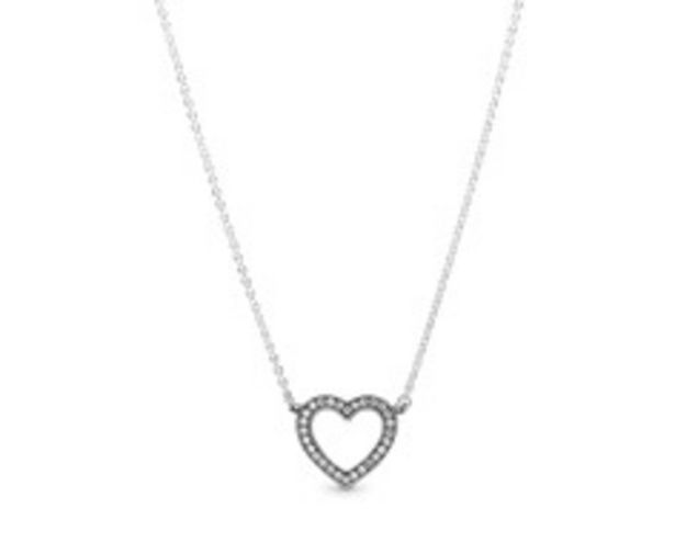 Sparkling Open Heart Necklace offer at $100