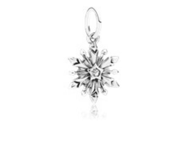 Disney, Frozen Snowflake Dangle Charm, Clear CZ - FINAL SALE offer at $65