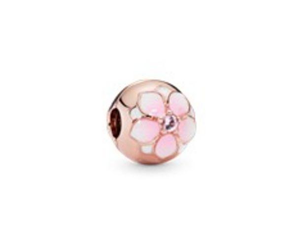 Round Pink Magnolia Flower Charm deals at $75