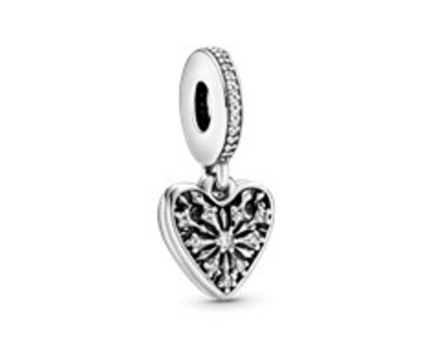 Ice Crystal Heart Dangle Charm - FINAL SALE offer at $60