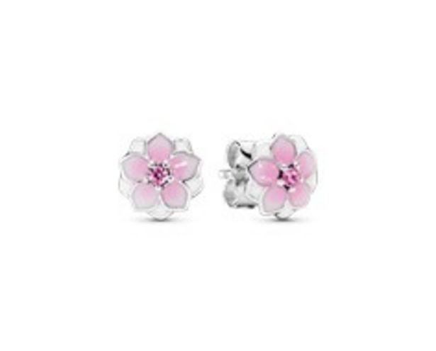 Pink Magnolia Flower Stud Earrings - FINAL SALE deals at $50