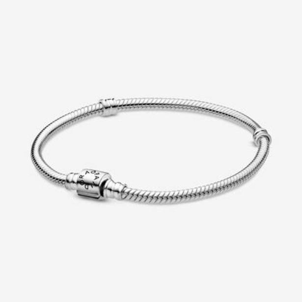 Pandora Moments Barrel Clasp Snake Chain Bracelet offer at $65