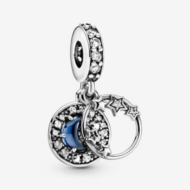 Blue Night Sky Crescent Moon & Stars Dangle Charm offer at $42.25