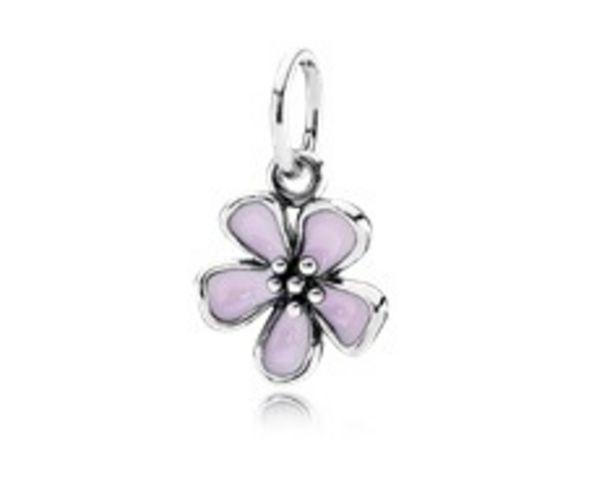 Cherry Blossom Pendant, Pink Enamel - FINAL SALE deals at $45