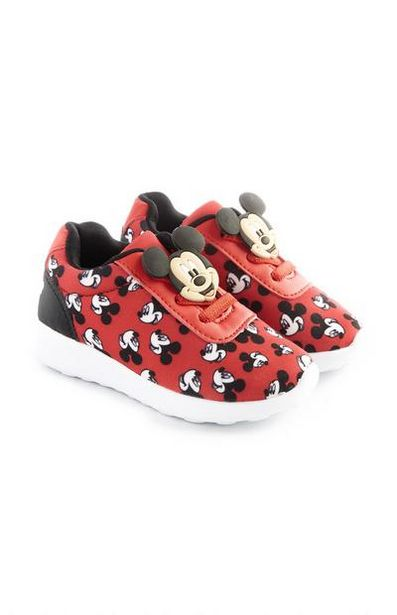 Younger Boy Red Mickey Mouse Sneakers offer at $16