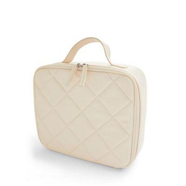 Cream Quilted Square Vanity Case deals at $8