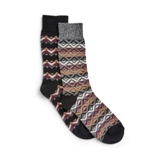2-Pack Fair Isle Pattern Stronghold Socks deals at $8