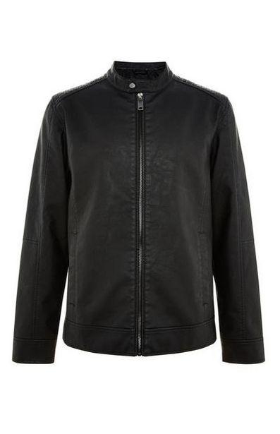 Black Faux LeatherBiker Jacket deals at $30