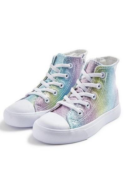 Younger Girl Rainbow High Tops offer at $16