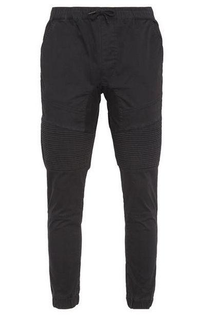 Black Biker Cuffed Pants offer at $23
