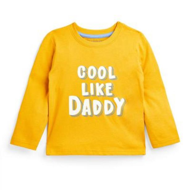 Baby Boy Yellow Slogan Long Sleeve T-Shirt deals at $3