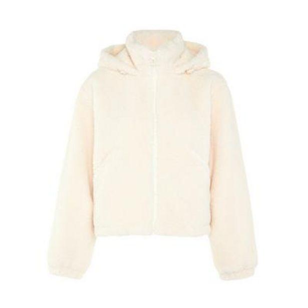 Ivory Fleece Zip Hoodie deals at $30