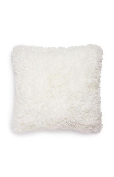 White Pompom Square Cushion offer at $6